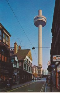 Liverpool social history St Johns Beacon from Williamson Street