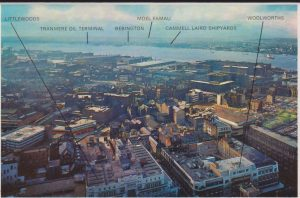 Liverpool social history St Johns Beacon towards Lairds Shipyard