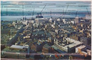 Liverpool social history St Johns Beacon towards Liver Buildings